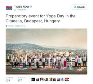 the times india sun never sets on yoga